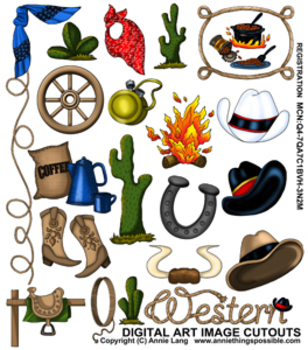 Western Images Clipart