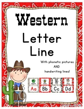 Western Letter Line - (Western Classroom Theme/Decor)