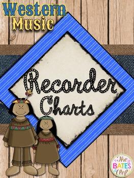 Western Music Decor - Recorder Charts