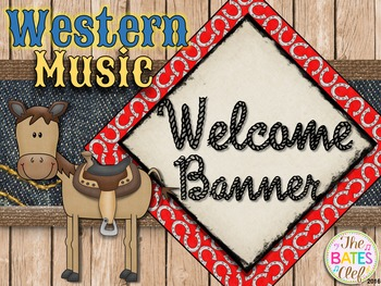 Western Music Decor - Welcome Banner