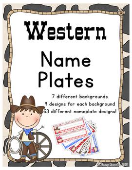 Western Name Plates - (Western Classroom Theme/Decor)