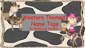 Western Name Tags