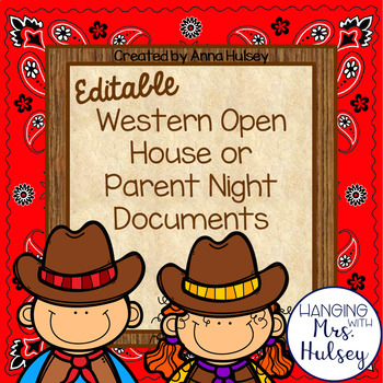 Western Open House Documents & Labels (Editable)