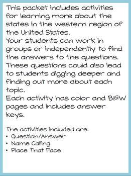Western Region States Fun Challenge Packet