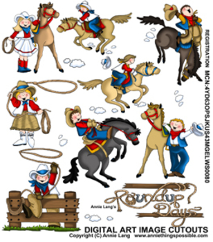 Western Roundup Days Character Clipart