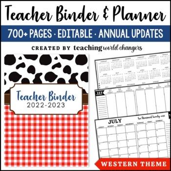 Western Teacher Binder