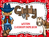 Western Theme Classroom EDITABLE Decor Kit
