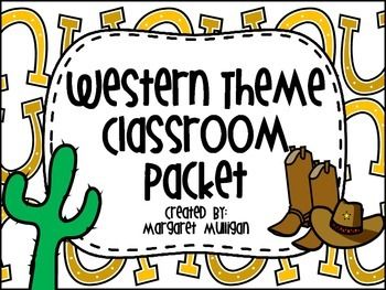 Western Theme Classroom Package - Over 50 Items for your W