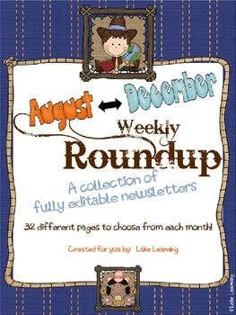 Western Theme Newsletter Template Bundle for August to December