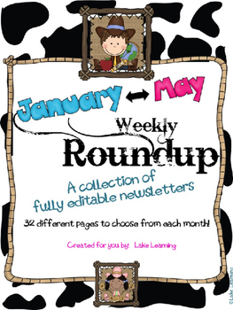Western Theme Newsletter Template Bundle for January to May