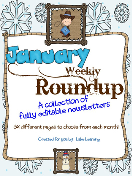 Western Theme Newsletter Template for January