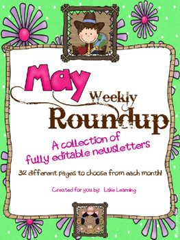 Western Theme Newsletter Template for May