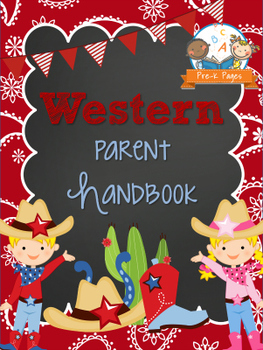 Western Theme Parent Handbook Back-to-School {personalize it}
