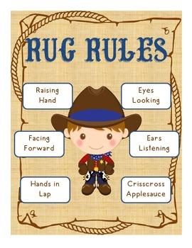 Western Theme Rug Rules