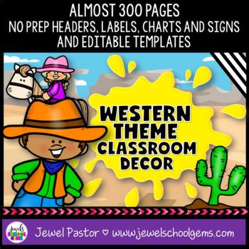Western Theme Classroom Decor (Wild West or Cowboy)