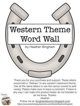 Western Theme Word Wall