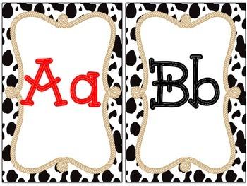 Western Themed Alphabet