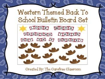 Bulletin Board Set: Western Themed Back To School