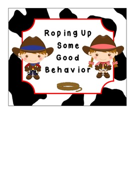 Western Themed Behavior Clip Chart