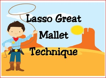 Western Themed Bulletin Board for Mallet Technique
