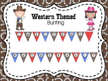 Western Themed Bunting