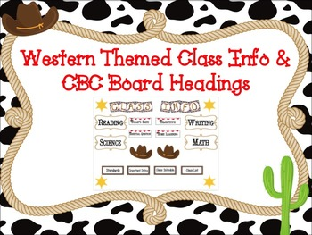 Western Themed CBC and Class Info Board