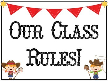 Western Themed Class Rules