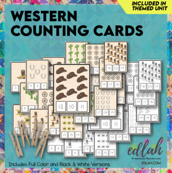 Western Themed Clothes Pin Number Game