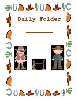 Western Themed Daily Folder Cover