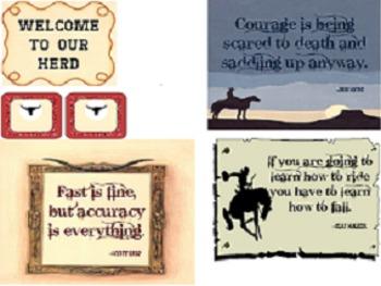 Western Themed Decor, Bulletin Board, Nametags