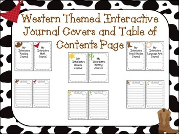 Western Themed Interactive Journal Covers