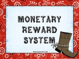 Western Themed PBIS Monetary Reward System