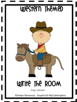 Western Themed Write the Room