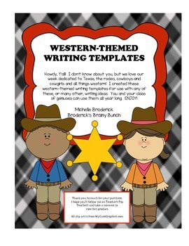 Western-Themed Writing Templates
