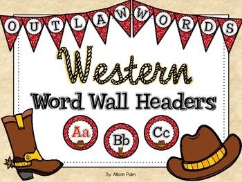 Western Word Wall Headers