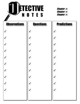 Westing Game Detective Notes Template