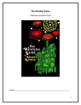 Westing Game Unit: Inferencing and Author's Craft