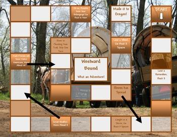 Westward Bound Game Board Template