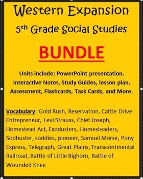 Westward Expansion BUNDLE - 5th Grade Social Studies