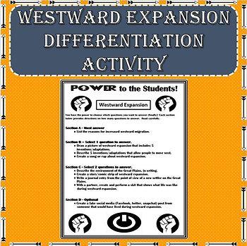 Westward Expansion / Great Plains Differentiation Activity