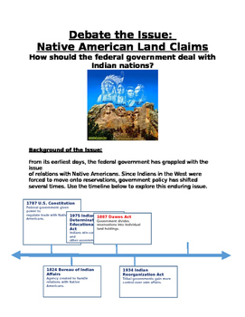 Westward Expansion: How should the fed. gov. deal with Ind