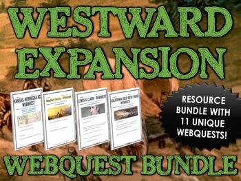 Westward Expansion / Manifest Destiny - Webquest Bundle /