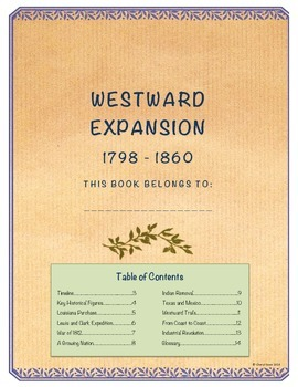 Westward Expansion Student Note Taking Booklet (United Sta