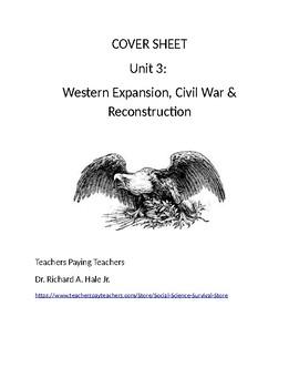 US History: Westward Expansion/Civil War/Reconstruction Co