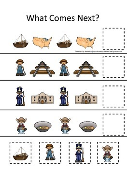 Westward Expansion themed What Comes Next preschool learni