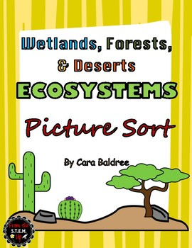 Wetland, Forest, & Desert Picture Sort, Booklet, and Ecosy
