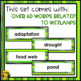 Wetlands Word Wall Words- Editable