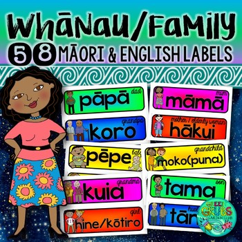Maori Whanau/Family Labels