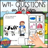 Wh- Questions on the Farm: Who, What and Where Interactive Book