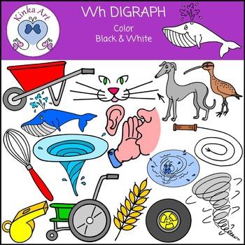 Wh Sounds (Digraph): Beginning Sounds Clip Art